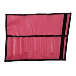 Manta nylon negra y rosa