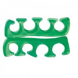 Peggy Sage - par de separadores de dedos del pie en silicona - Verde