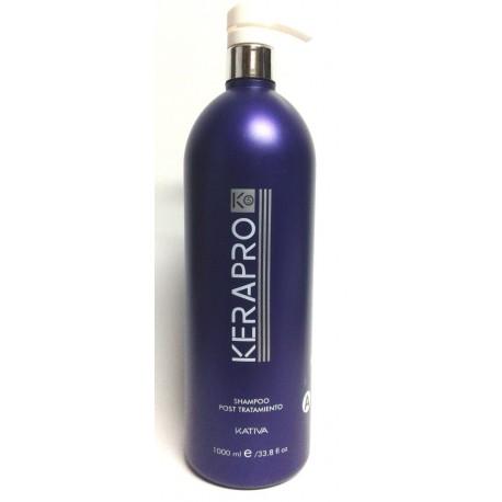 Kativa - Kerapro K5 - Tratamiento de alisado y reductor de volumen - Shampoo post tratamiento - 1L